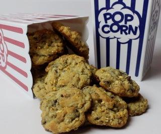 Chocolate Chip Popcorn Drop Cookies