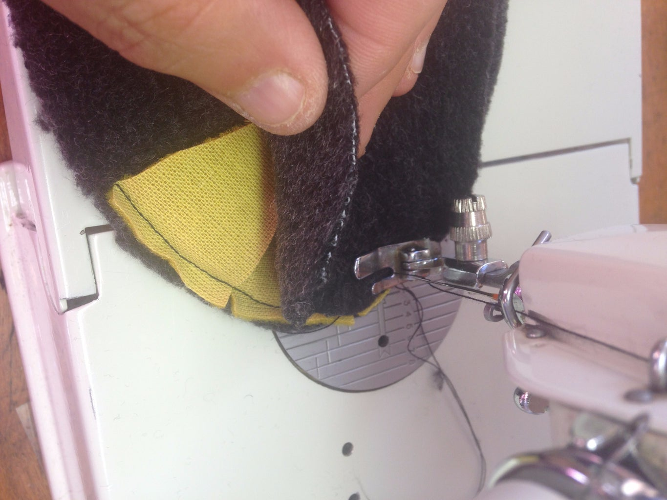 Sewing & Clipping the Toes...