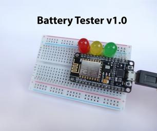 Battery Tester Using NodeMCU
