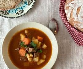 Authentic Hungarian Goulash Soup