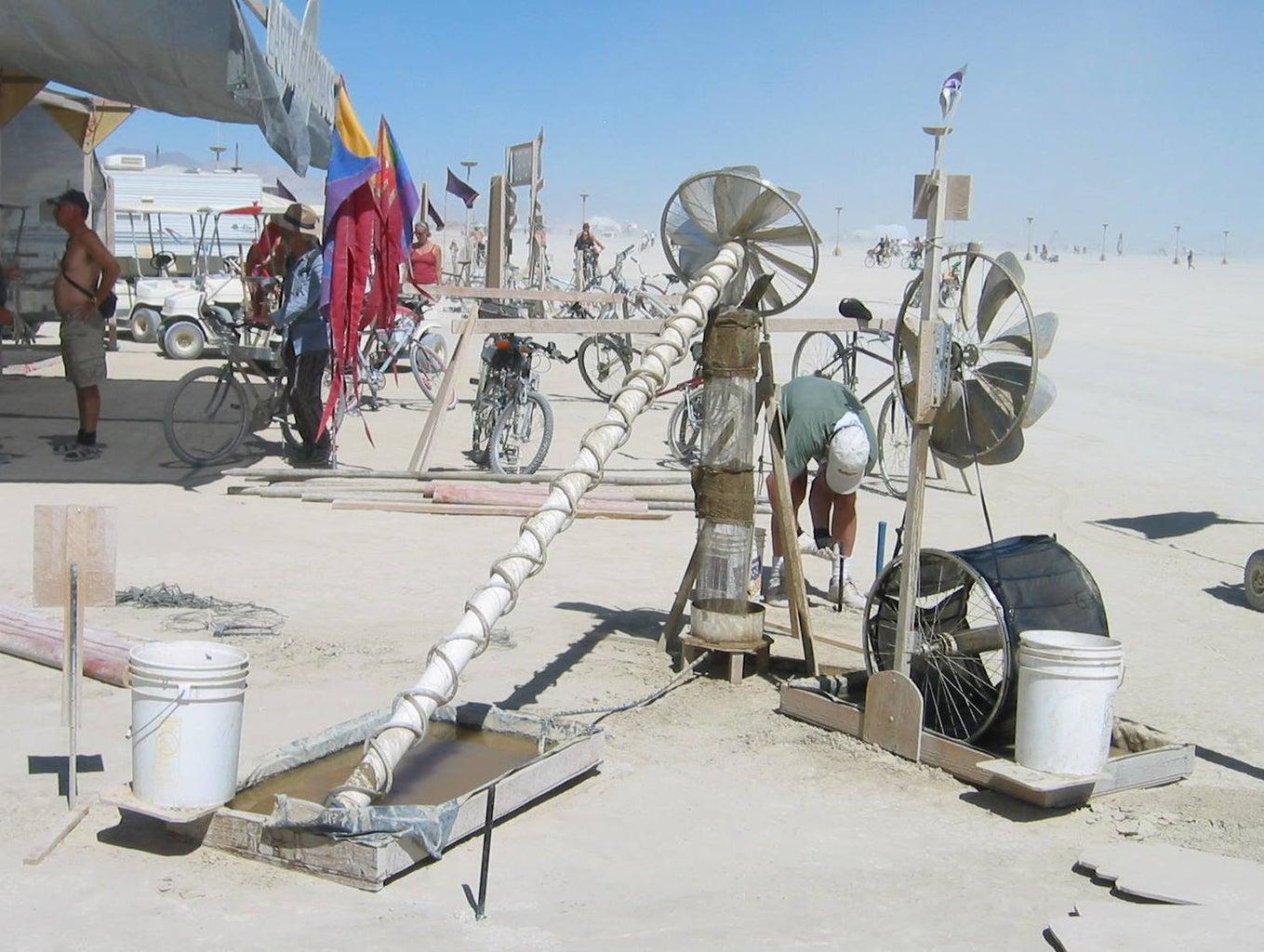 Fancy Greywater Evaporator Windmills