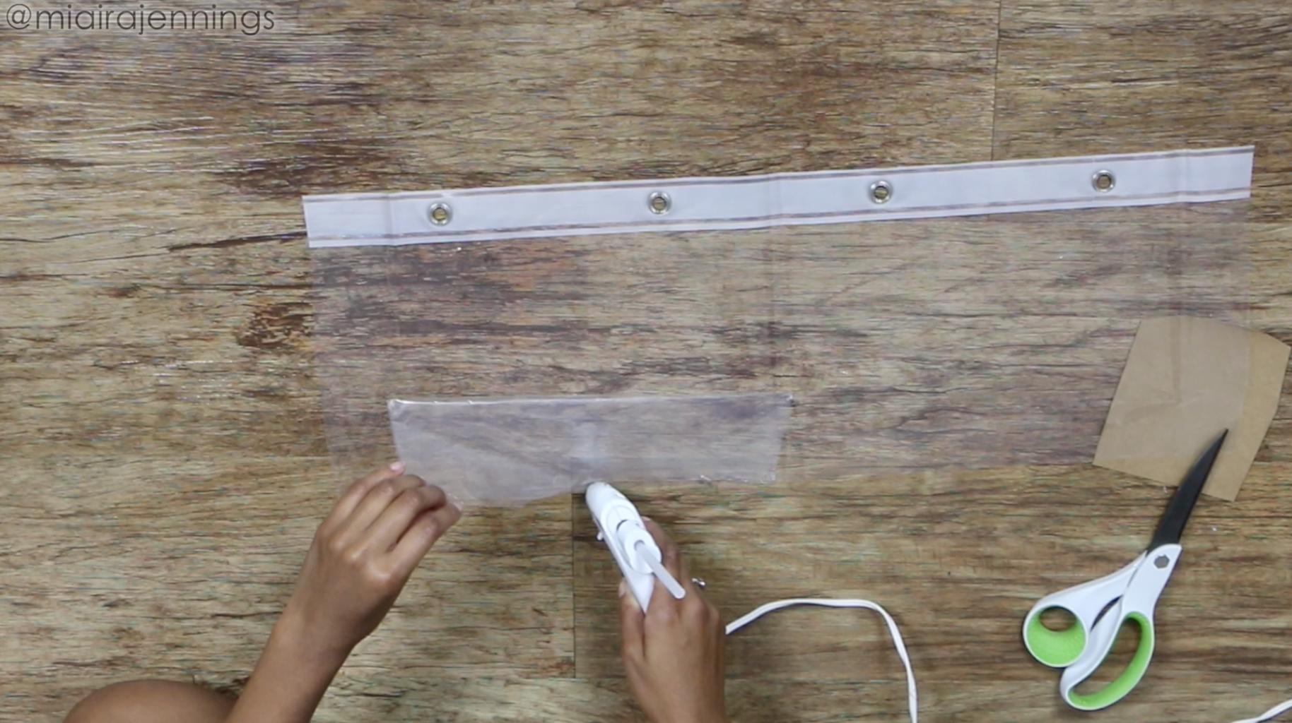 Glue Pieces to Form Bag Shape