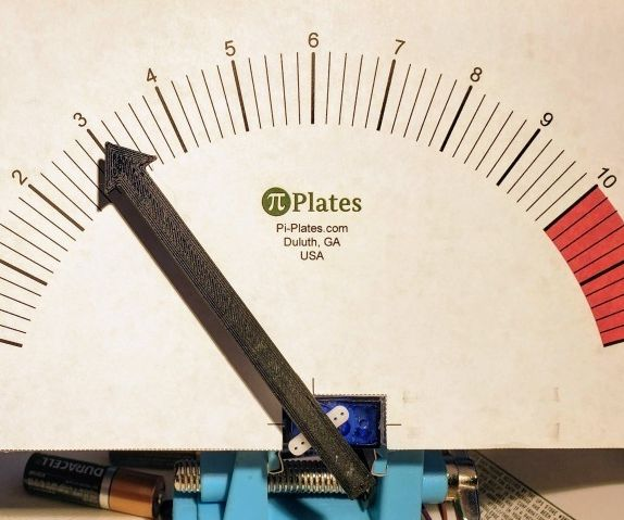 Retro Analog Voltmeter