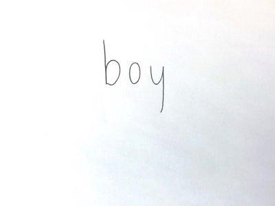 "Write the Word ""boy"""