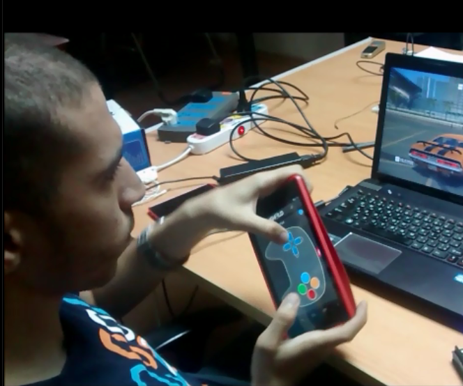 GamePad using Android mobile sensors and Arduino