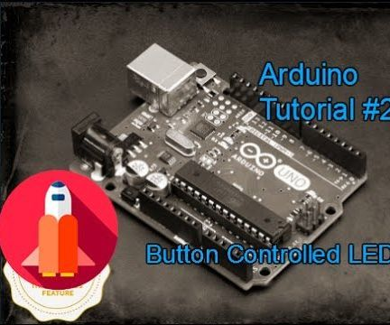 How to Controll a Led with Button - Arduino Tutorials by TechSpaceCrafter