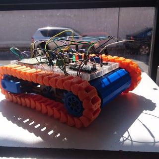 Chasis De Robot Con Orugas Impresas En 3D