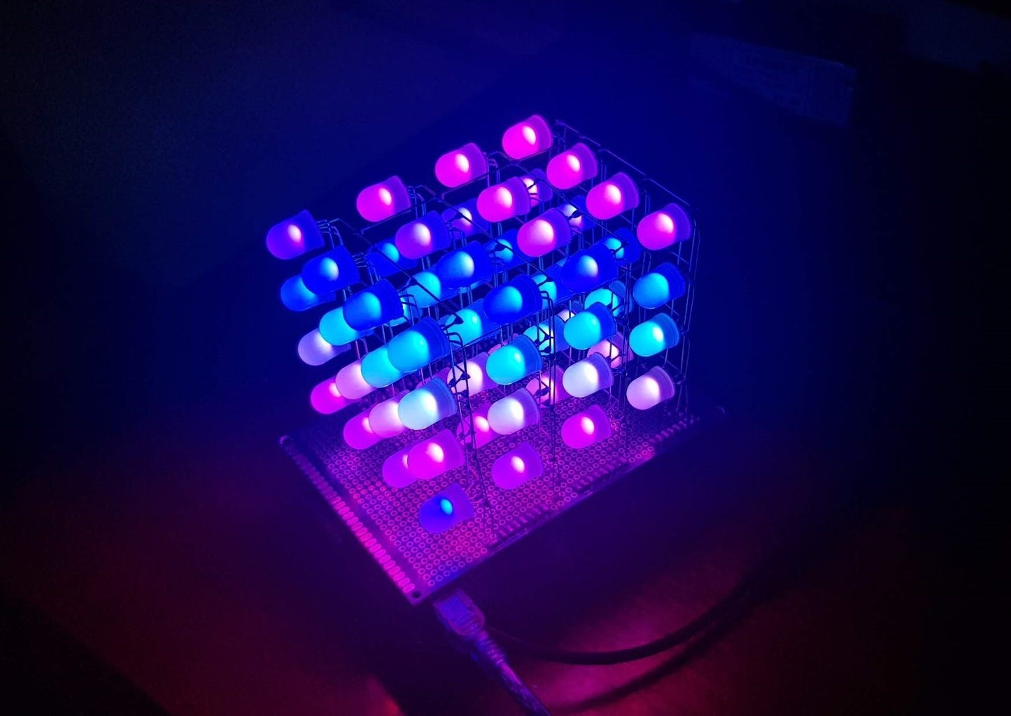 RGB LED CUBE 4x4x4