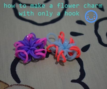 how to make a flower charm with only a hook