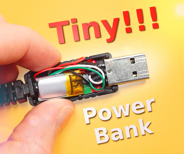 Power Bank Inside a USB Cable