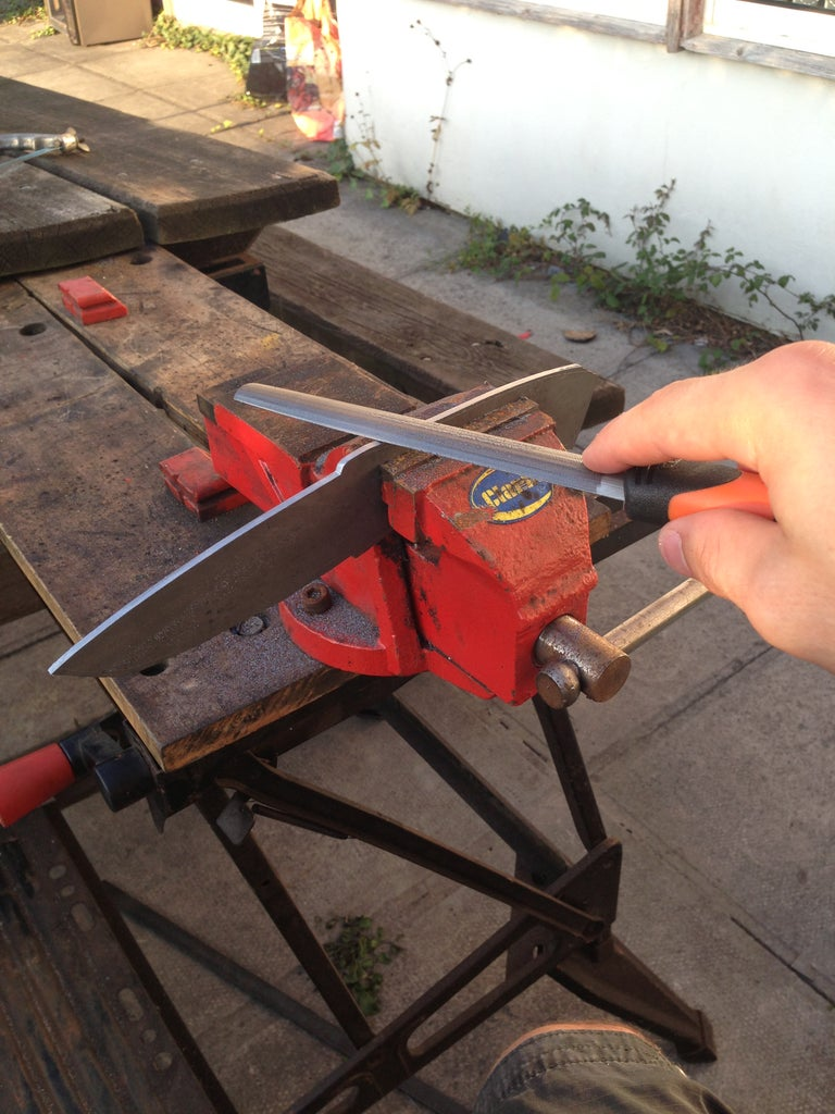 Cutting and Shaping the Blade Profile