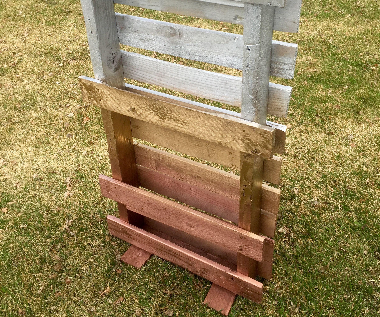 DIY Standing Pallet Planter