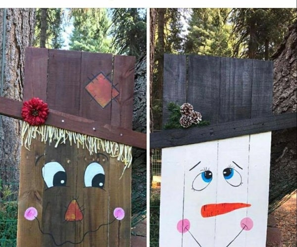 Scarecrow and Snowman Pallets