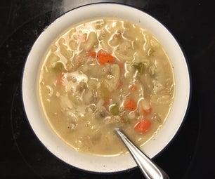 Turkey Carcass Noodle Soup