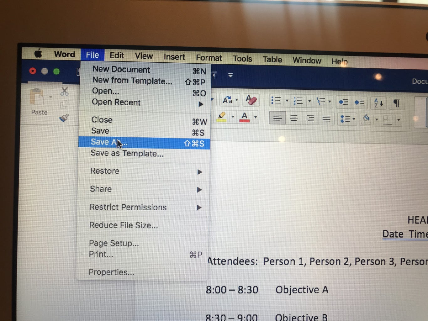FORMAT YOUR DOCUMENT