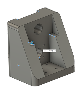 Design Process - Moving Load Cell Mount - Load Cell Cutout