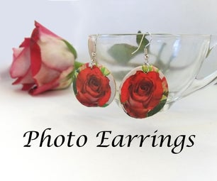 Beginner Jewelry: Wooden Photo Earrings