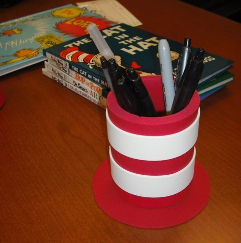 """Cat in the Hat"" Hat Pen/Pencil Holder"