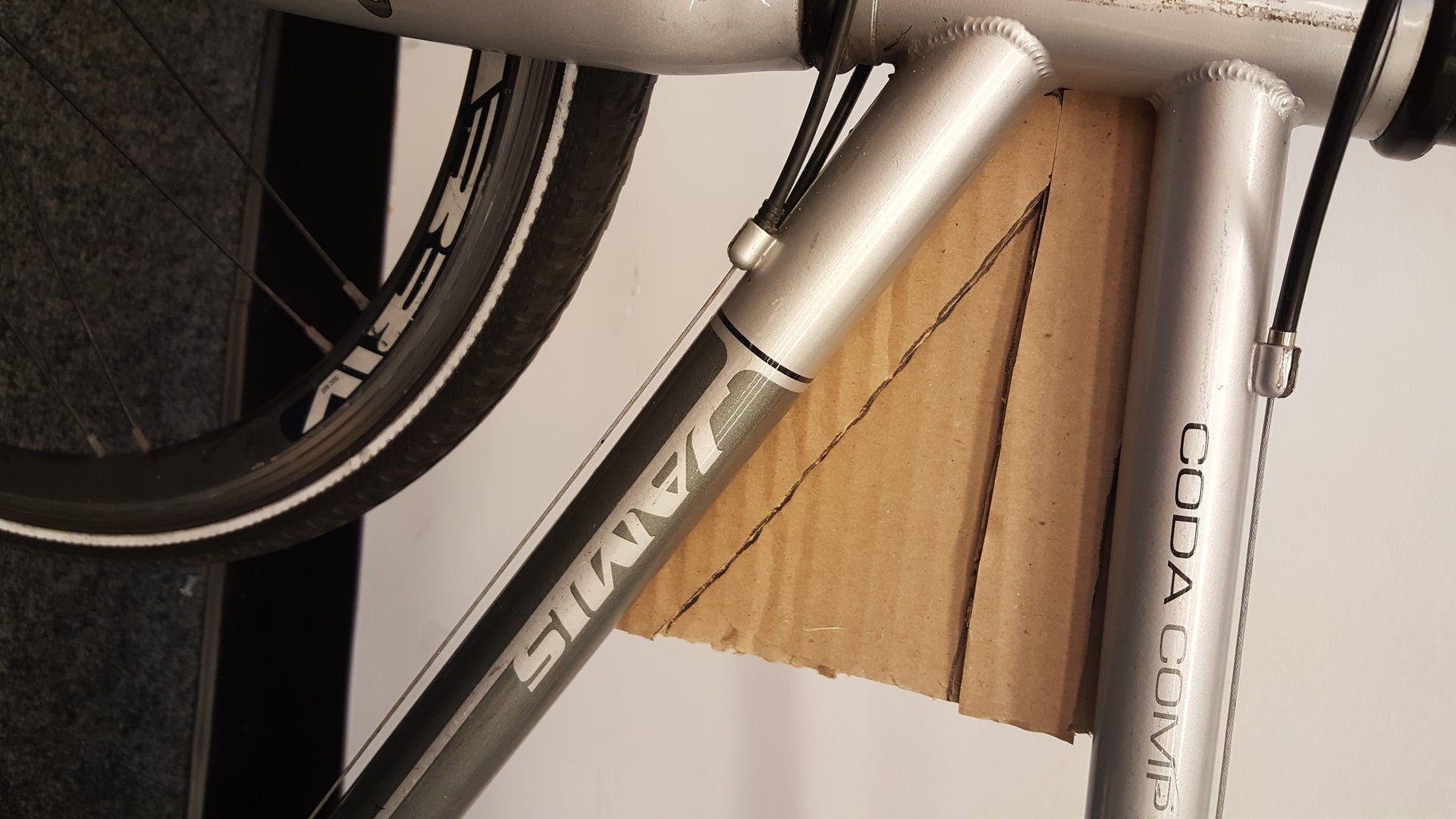 Bicycle Attachment Plate: Cardboard Mock-up