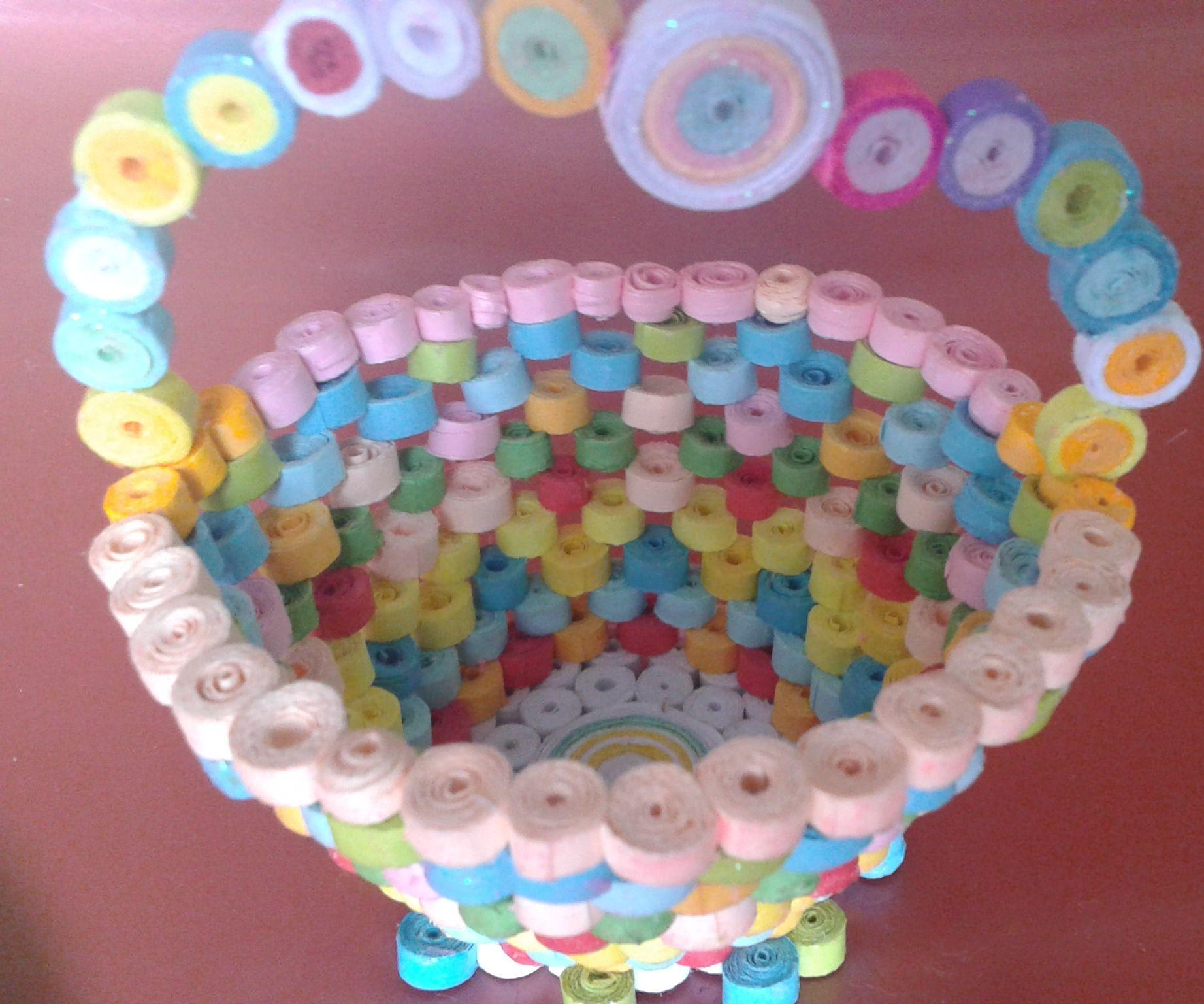 Paper Quailing Basket