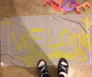 Make a Welcome Rug Out of an Old Towel 2.0