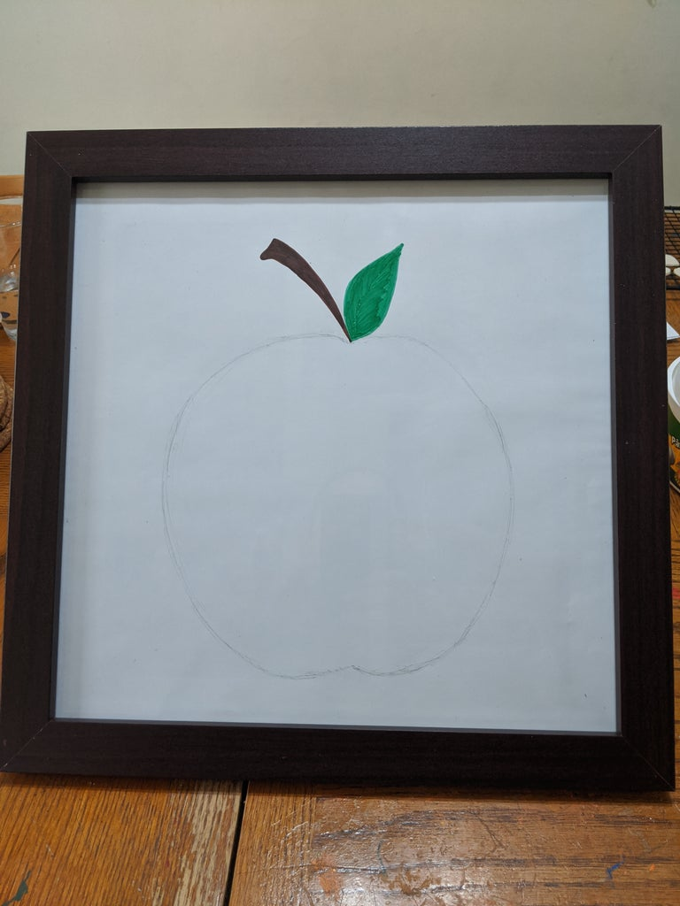 Draw an Outline of an Apple