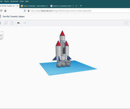 Spacejet for Tinkercad Contest:space