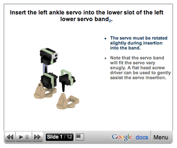 Assemble the Left Leg