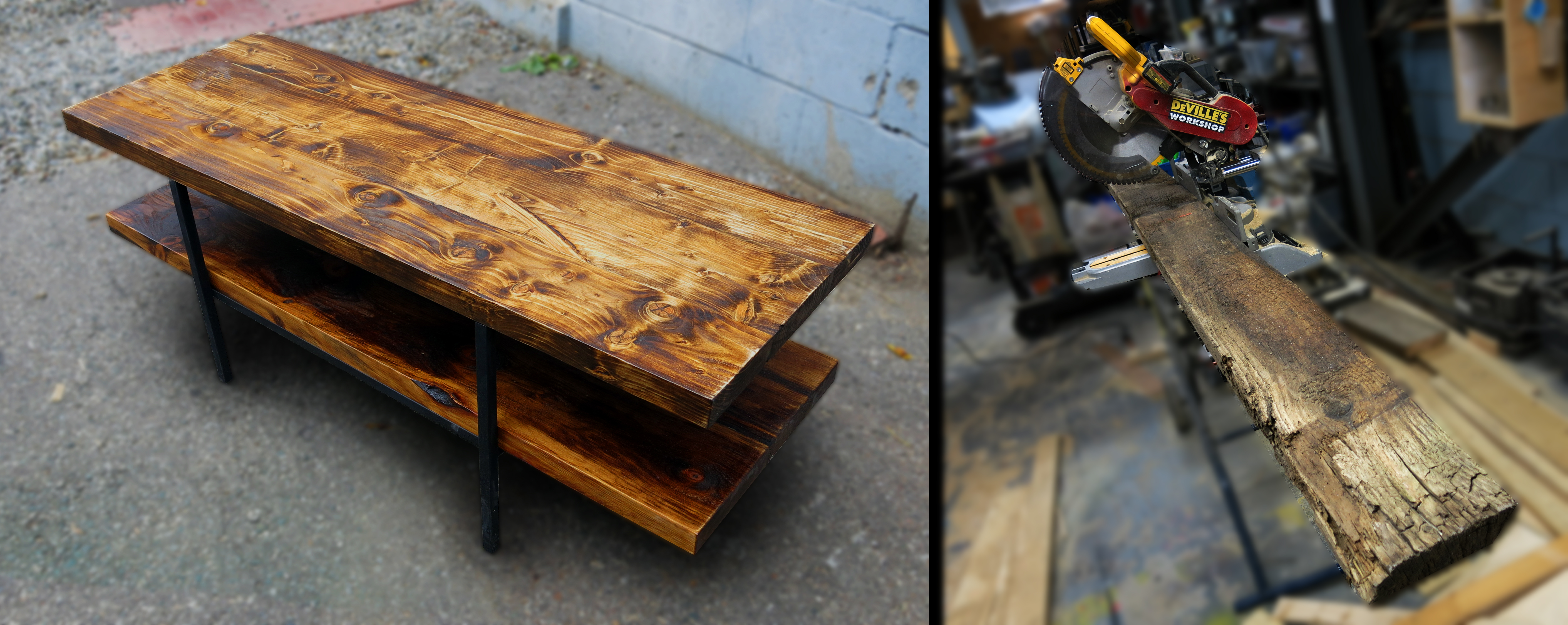 Build a table from old barn board