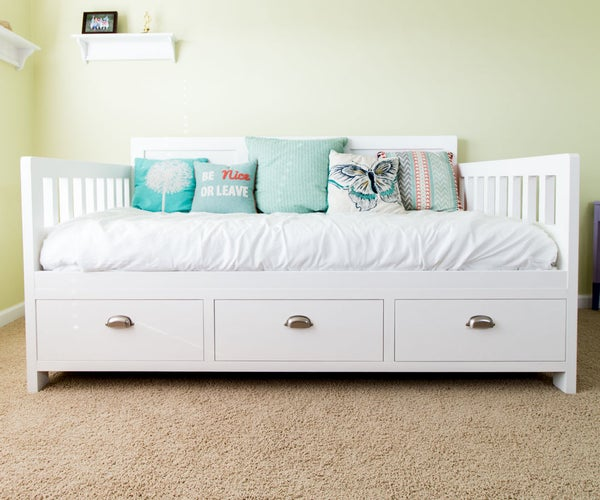DIY Bed With Storage