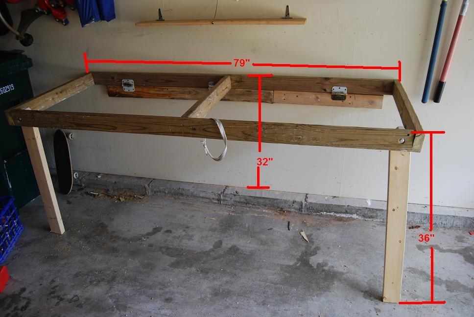 Folddown Workbench 5 Steps Instructables - Diy Fold Down Work Table