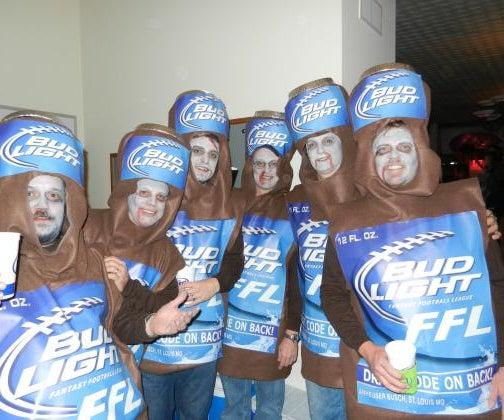 Coolest Zombie Six Pack Bud Light Costume