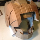 Cardboard Helmet with Flip Down Visor