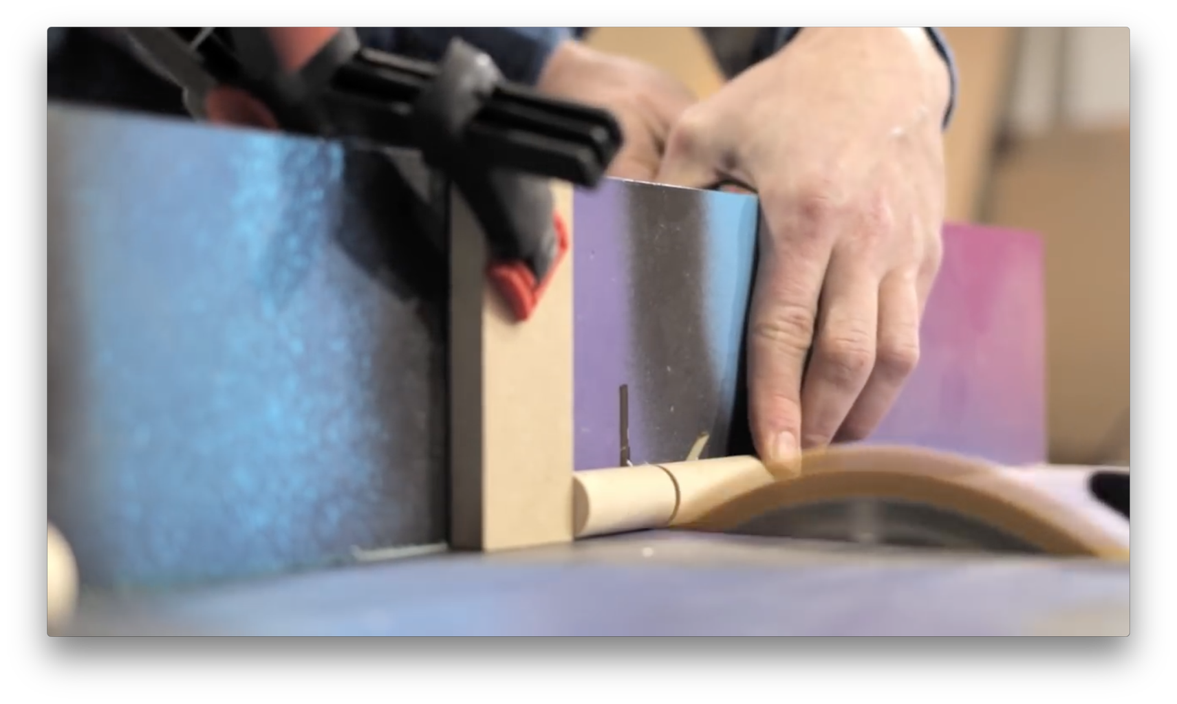 Prep the Holes for the Dowels in the U-Shaped Base