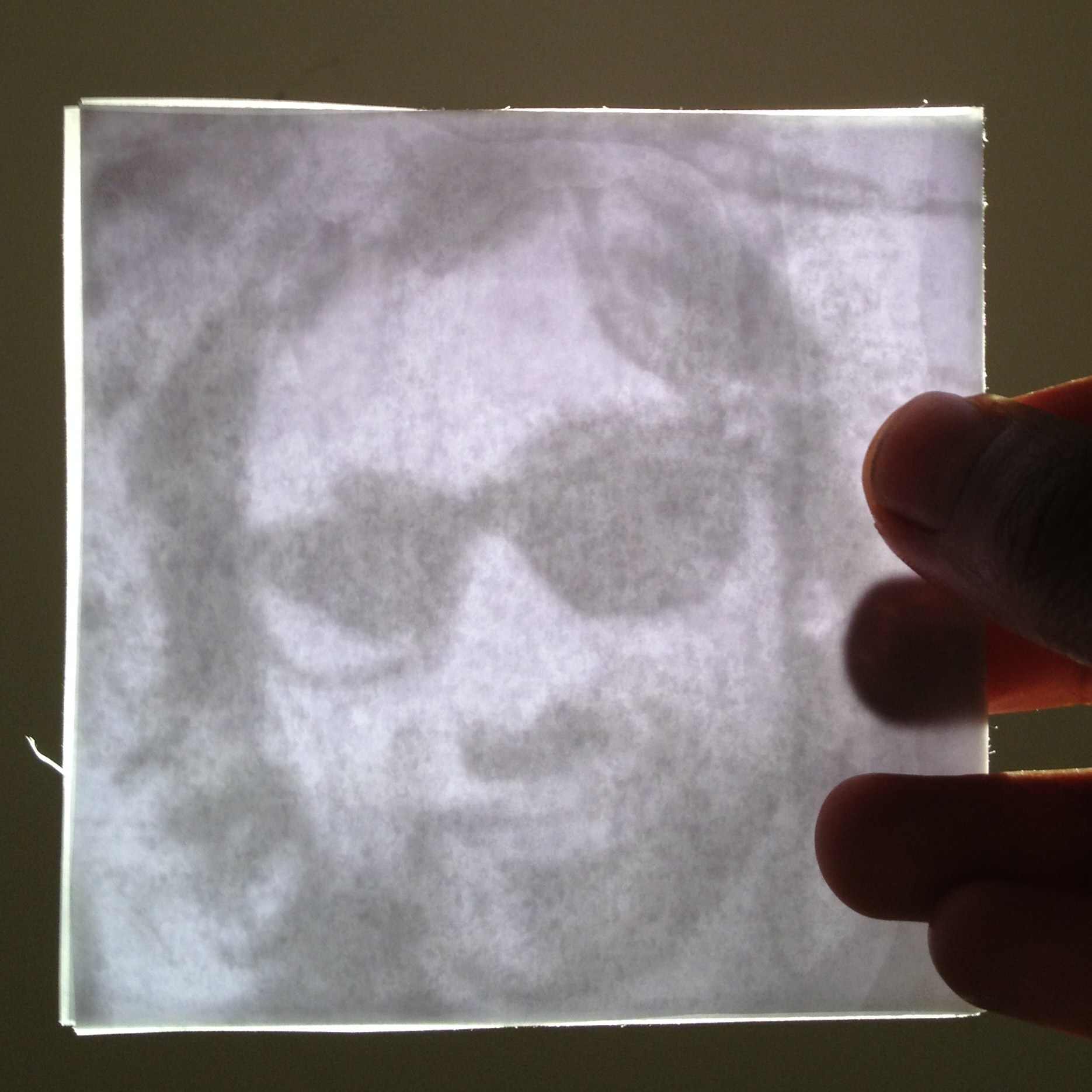 Oily paper lithophane-like picture thing!