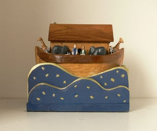 Noah's Ark Made From Old Kitchen Worktop and Wood Offcuts