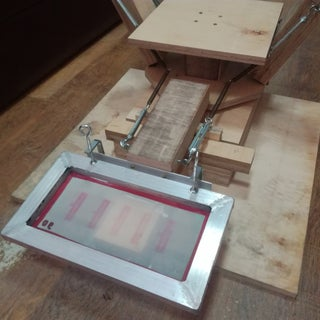 Make a 4 Color Screen Printing Press