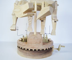 Wooden Kinetic Dog-chasing-tail