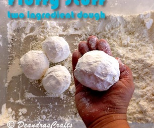 Fluffy Stuff - two ingredient play-dough