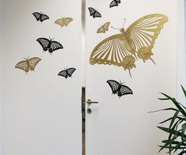 Laser Cut Butterfly Wall Sticker