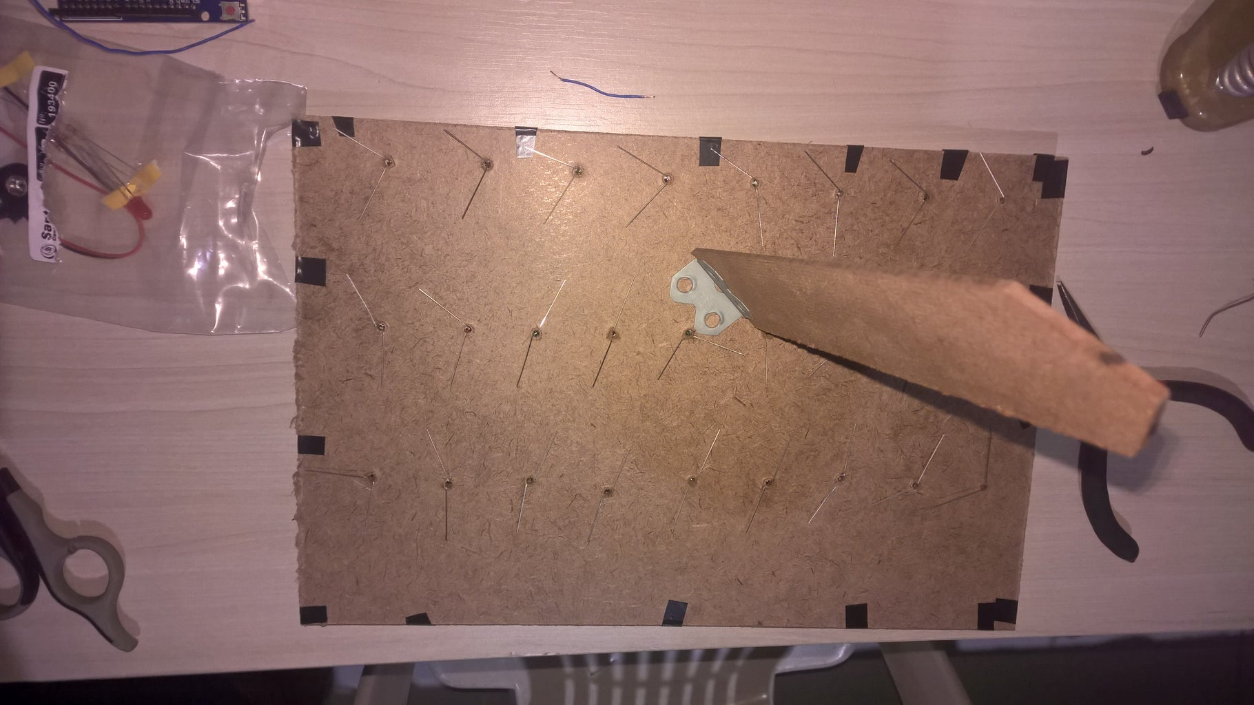 Drilling Holes and Placing the LEDs