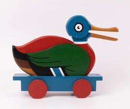 Wooden LEGO Duck