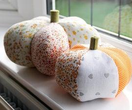 2 X DIY Easy Pumpkins | How to Sew Pumpkin Pillow Ornaments