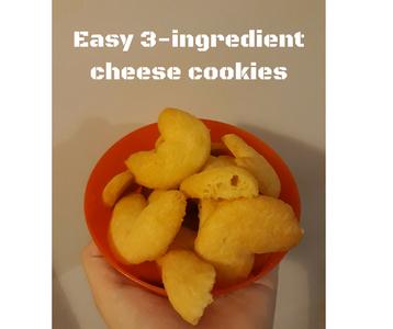 Easiest Ever 3 Ingredient Cheese Cookies
