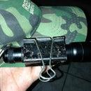 """Tactical light binder clip or """"tac cap clip"""""""