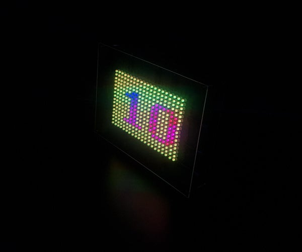Colorful Message With Grove Beginner Kit and RGB Led Matrix