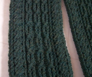 Cable Scarf and Mittens