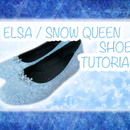 DIY Elsa / Snow Queen inspired shoes for cosplay