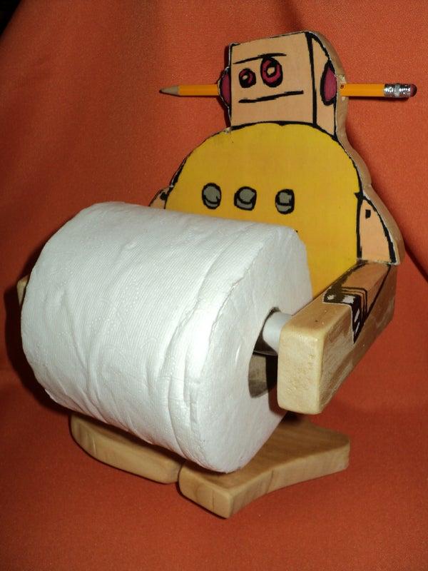 Instructables Robot Toilet Paper Holder