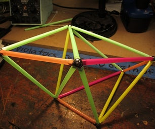 Custom Low-Cost Magnetic Model Construction Kit From Drinking Straws
